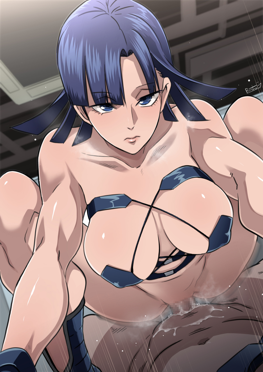 the brilliant blue daphne in nude Blade dancers of the elementalers