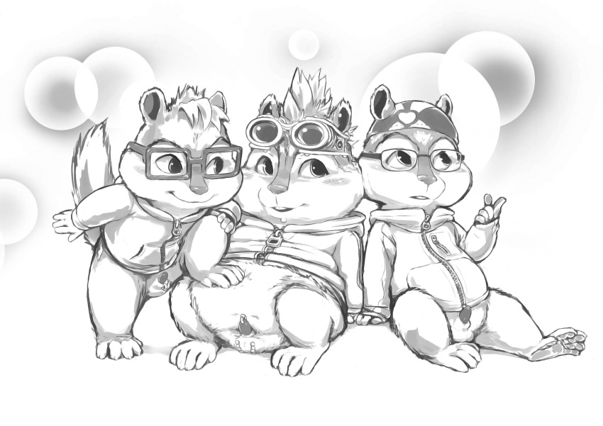 nude and the chipmunks alvin Kate and humphrey alpha and omega