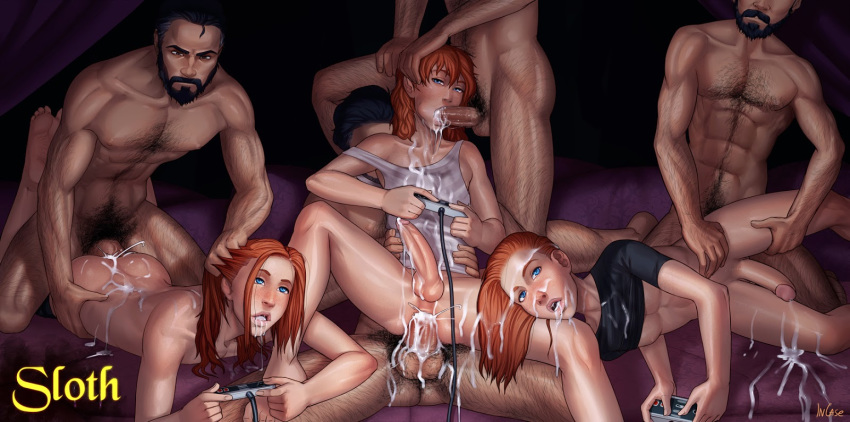 seven nude sins deadly merlin Self bondage with vibrator gone wrong